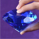 Uitstekende kwaliteit Meer Gift van de Verjaardag van de Diamant van het Glas van de Presse-papier van het Kristal van Facetten K9 Grote Reuze