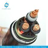 Проводник из бескислородной меди бронированные 11кв 3 Core 240мм мв кабель