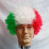 Parrucca dei tifosi della tazza di mondo, parrucche maschii di Cosplay della parrucca di Afro, parrucca dei ventilatori di calcio del Mohawk