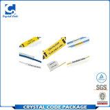 Etiqueta autoadhesiva adhesiva de encargo del cable de la garantía de la impresión