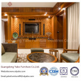 Mobilia standard di lusso dell'hotel per la camera da letto della serie del teck (YB-S811)