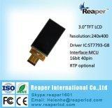 Module chaud 240*400 de TFT LCD d'affichage à cristaux liquides de 3.0 pouces avec le contact résistif pour la boîte noire de véhicule