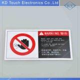 Etiqueta de advertência gráfica do poliéster com adesivo de 3m para a fábrica industrial