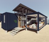 Deluxe Ocean View Préfabriqué modulaire 40pieds Shipping Container chambre