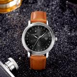 Z366新しい方法革涼しい人の偶然の腕時計の人の腕時計