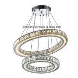 Iluminação de cristal interna do pendente do candelabro para a decoração
