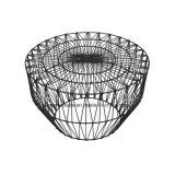 Mobiliário de exterior de fio de metal redonda de casamento mesa de café
