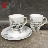 Tazza di caffè di ceramica della tazza di tè di disegno del marmo del fornitore della Cina