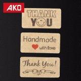 Merci l'OEM que fabriqué à la main a reçu l'étiquette auto-adhésive de collants