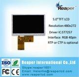 """Pantalla LCD 5"""" 480*272 40pin de la interfaz de RGB Pantalla táctil opcional aplicable para fines médicos"""