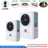 chauffage central de chauffe-eau de pompe à chaleur d'air de 35kw 70kw 105kw