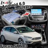 Android 6.0 навигационного GPS для Форд Фокус Sync 3 видео интерфейс связи Яндекс Waze наружного зеркала заднего вида