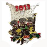 Médaille colorée personnalisée de logo de Fest de potiron de PVC