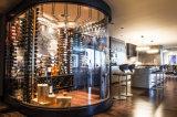 Шкаф вина металла индикации набора стены вина рядка представления установленный стеной