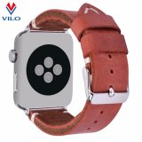 Nueva moda de cuero genuino Correa de Reloj de cuero para Apple de la banda de reloj pulsera