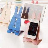 Supporto astuto universale di legno dello scrittorio del supporto del basamento del telefono del coniglio sveglio