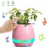 Slimme Muzikale Bloempot met Spreker Bluetooth en Kleurrijke LEIDEN Licht