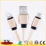 Ledernes Troddel-Schlüsselring USB-Daten-Kabel mit Mikro-USB-Aufladeeinheits-Kabel