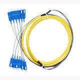 중국 섬유 Optik SC/PC Sm 12 색깔 기갑 섬유 케이블 떠꺼머리
