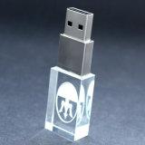 Haute qualité logo 3D personnalisé Crystal USB avec voyant USB 2.0/Lecteur Flash USB 3.0 32 Go 64 Go