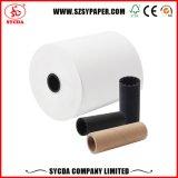 Roulis thermique de papier de caisse comptable de pâte de bois de 100% pour le côté