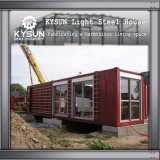 Casa rápida da instalação do recipiente pré-fabricado para a casa de campo