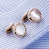 VAGULAの自然な母真珠のGemelosのカフスボタン52500