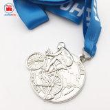 Morire Tamping la medaglia d'argento in lega di zinco di guida della bici