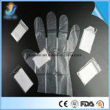 Одноразовые пластиковые PE 2ПК в сложенном виде перчатки в пару для парикмахерская