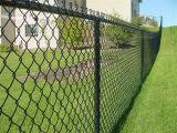 庭によって電流を通される鉄の金網のチェーン・リンクの塀のパネル
