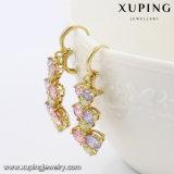 Mode coloré élégant Cz Diamond Bijouterie de fantaisie Earring Eardrop dans Gold-Plated 91501 14k