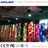 Visualización de LED de interior de la pantalla de los carteles P2.5-640X1760 para el salón de baile y recepción y demostración
