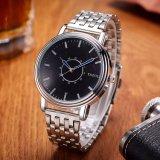 Reloj de encargo de acero de la insignia de la venda de reloj de los nuevos hombres de lujo del reloj de la manera de H305-S