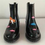 Estilo popular de PVC Impresión Botas de lluvia, la mujer Bota de lluvia, botas de damas
