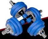 Anti-Rollデザイン調節可能なゴムのダンベルのBarbellは体操のためにセットした