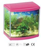 Serbatoio di pesci di vetro dell'acquario di nuova figura dell'arco con il certificato dell'UL del Ce SAA del coperchio dell'indicatore luminoso del LED