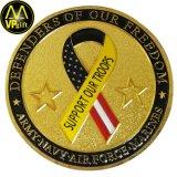 Cheap métalliques personnalisées en 3D'Armée de la Police militaire de l'or Prix Défi Trophée Souvenir Coin