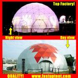명확한 투명한 백색 PVC 큰 돔 집 Fastup 천막