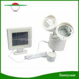 Im Freien wasserdichtes Doppelpunkt-Licht-Bewegungs-Fühler-Garten-Sicherheits-Solarlicht des kopf-22 LED angeschaltenes