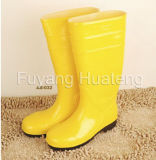 De gele Laars van de Regen van pvc van de Veiligheid, de Laars van de Veiligheid, Werkende Laars