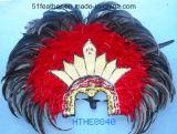 ハンドメイドのインドのOrstrichまたはトルコの羽の頭飾り