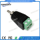 CCTV Male Solderless RCA Connector with Screw Terminal (RC100)