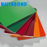 Neitabond PVDF cubrió la hoja compuesta de aluminio de 4m m para el revestimiento de la pared