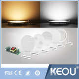 LED messo Downlight con il blocco per grafici di legno dorato d'argento nero bianco