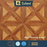Domicílio de 12,3 mm de vinil Plank Oak Sound Absorbing Laminated Wood Floor