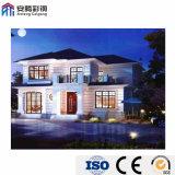 Moderno diseño Estructura de acero de la luz exportado de Villa Verde de 2 pisos casa prefabricados
