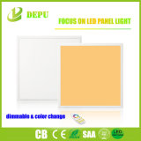 Regulable&Colorchange Oficina de la plaza de la luz de panel LED 40W en la pared de la luz de panel LED 595*595