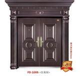 Porta de entrada Porta de ferro Porta de metal Porta de entrada porta exterior (FD-1005)