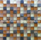 Tuile de mosaïque d'ardoise mélangée à la mosaïque en verre pour l'usage de mur