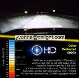 100W OCULTÓ el color normal OCULTADO H4 OCULTADO 4300K-12000K de la lámpara 35W del coche de los bulbos del xenón del bulbo de la lente del proyecto de la luz del coche de la lámpara de los bulbos del xenón del lastre H1 de la CA del kit OCULTADO